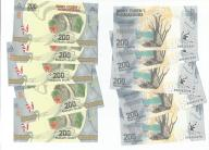MADAGASCAR 200 ARIARY 2017 UNC 10 szt banknotów