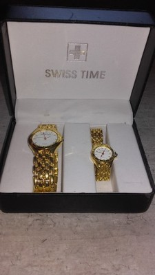 Dwa zegarki Geneves Swiss Time w pudełku (zdjęcia)