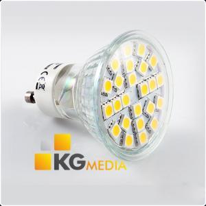 Żarówka GU10 24 LED 400lm 4,5W 5050 SMD Ciepła