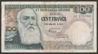 Kongo Belgijskie - 100 franków - 1960 rok