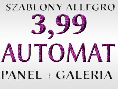 SZABLON ALLEGRO SZABLONY AUKCJI+GRATISY+PANEL !!