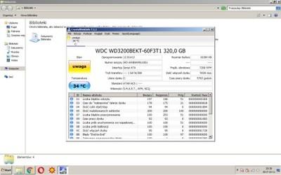 Dysk HDD WDC WD3200BEKT-60F3T1 320 GB