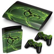 PS3 Super Slim Naklejki na konsole i 2pady Biohaza