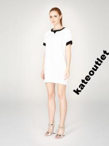 Sukienka MOHITO tunika biało-czarna 34-XS