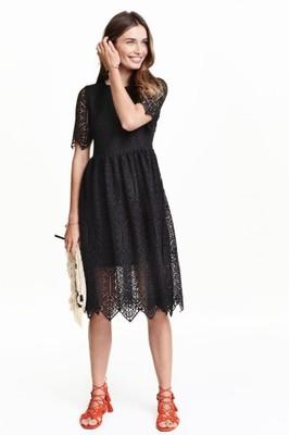 c151145607 H M Koronkowa sukienka wieczorowa midi ZARA - 6809454002 - oficjalne ...