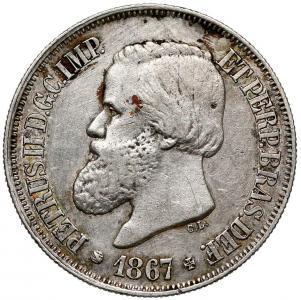 1507. Brazylia, 500 reis 1867, st.~3