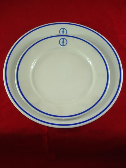 FSO - dwa talerze z logo fabryki