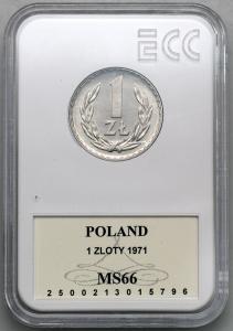 4629. 1 zł 1971 - GCN MS66