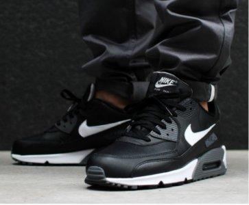 buty nike air max 90 czarne białe 537384-012