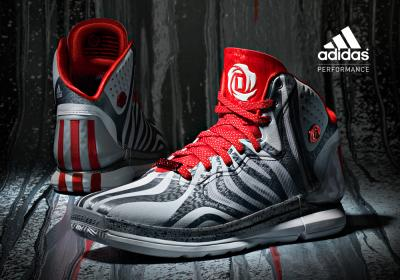 sports shoes 94745 177cc BUTY ADIDAS DERRICK ROSE 4.5 SILVER RED 48 23