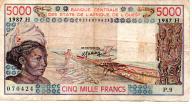 Niger 5000 Francs 1987 P-608 Hl