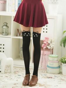 33c085f462f44b Rajstopy zakolanówki kotek kot kitty Japan Style!! - 5544456257 ...