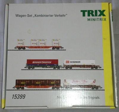 Wagony platformy TRIX 15399