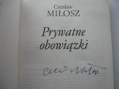 Autograf Książka Oryginał Czesław Miłosz 6560062202