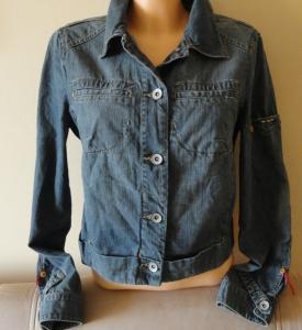 MNG krótka bluza katana dżinsowa  L