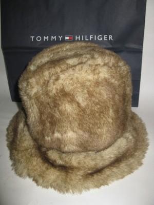 TOMMY HILFIGER kapelusz z futerka r. L/XL jak NOWY