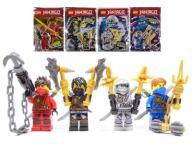 LEGO NINJAGO 4X FIGURKA ZANE COLE JAY KAI SASZETKA
