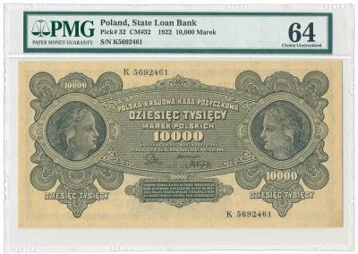 2096. 10.000 mkp 1922 - PMG 64