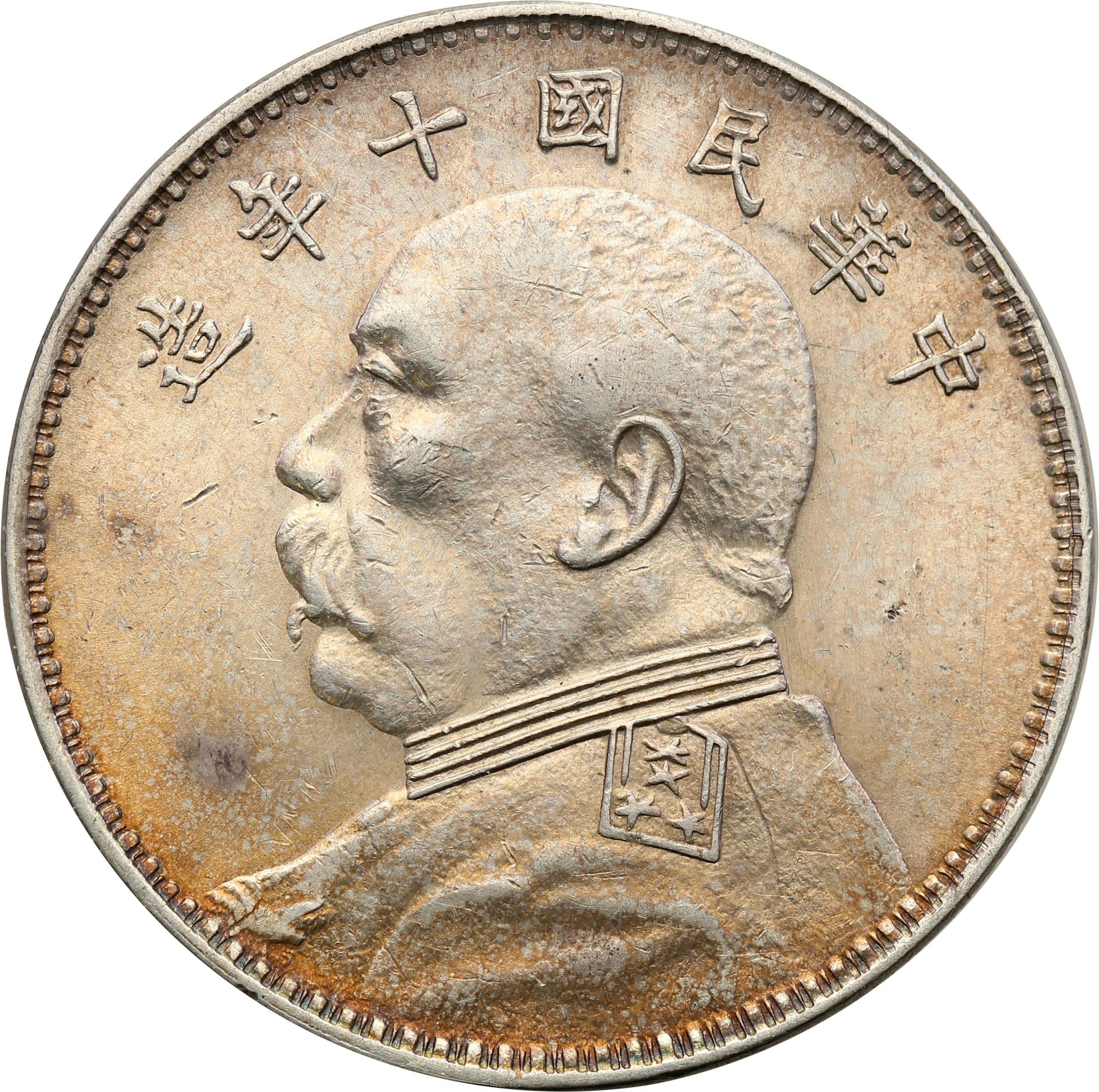 Chiny Repub. 1 Yuan (dolar) bd Yr 10 (1920) PIĘKNY