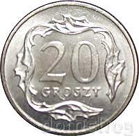 20 groszy 1991 - menniczy