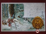 1902 Las/Krasnoludek,Litho A2171