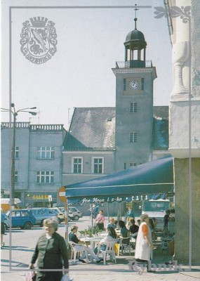 RYBNIK - RYNEK - RATUSZ - FIAT 126P - HERB
