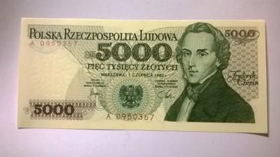 5000 zł seria A 0..0.... UNC