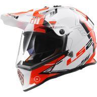 KASK LS2 PIONEER MX436 WHITE BLACK RED XL + GRATIS