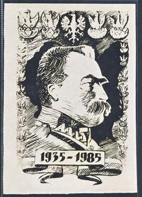 PIŁSUDSKI - PORTRET 1935 - 1985 Grafika