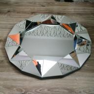 Duże, okrągłe lustro ścienne, super design!