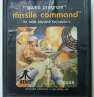 cartridge # missile command # Atari VCS 2600
