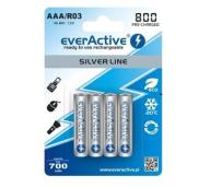 4x AKUMULATORKI NI-MH EVERACTIVE AAA R03 R3 800mAh