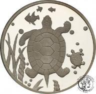 Korea 1500 Won 2007 żółw SREBRO uncja st.L