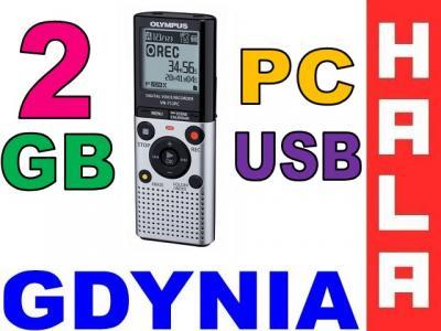 Dyktafon cyfrowy Olympus VN-712PC + ME51S 2GB USB+