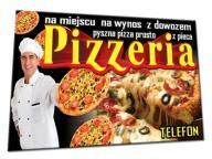 PIZZERIA PIZZA BANER 3x1,2m BANERY zapiekanki piec