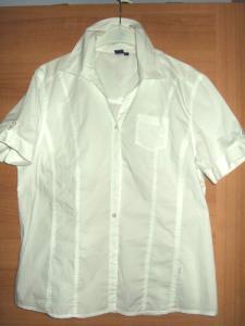 3302d8ff97781f bluzka koszulowa koszula biała L 40 krótki rękaw - 6023254923 ...