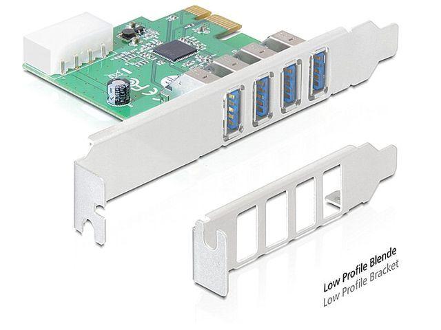 KARTA PCI EXPRESS->USB 3.0 4-PORT + ŚLEDŹ LOW P
