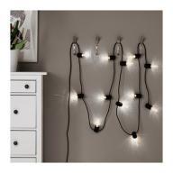IKEA SVARTRA Łańcuch świetlny 12 LED Girlanda NOWY