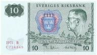 3960. Szwecja 10 kronor 1971 st.1-