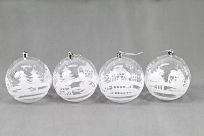Bombki Plastikowe Z Domkiem 10 Cm 6637834008 Oficjalne Archiwum Allegro