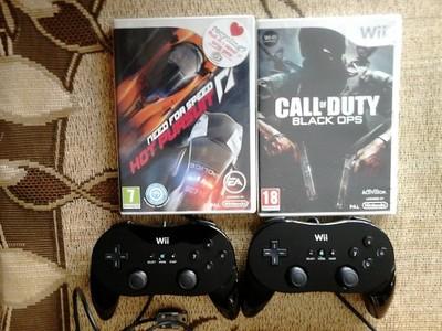 Gamepad Wii classic 2x + gry 2x