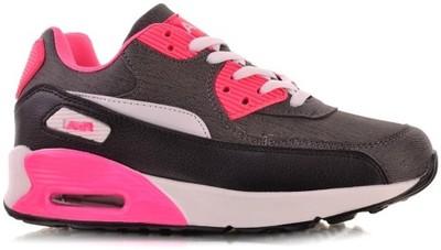air max czarne z różowym