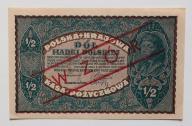 1/2 mkp   1919 stan  UNC   RARYTAS WZÓR