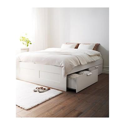 Ikea Rama łóżka Z Szufladami Dno Belka Brimnes