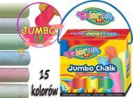 KREDA Kolorowa Jumbo Chalk COLORINO 15 kolorów 658