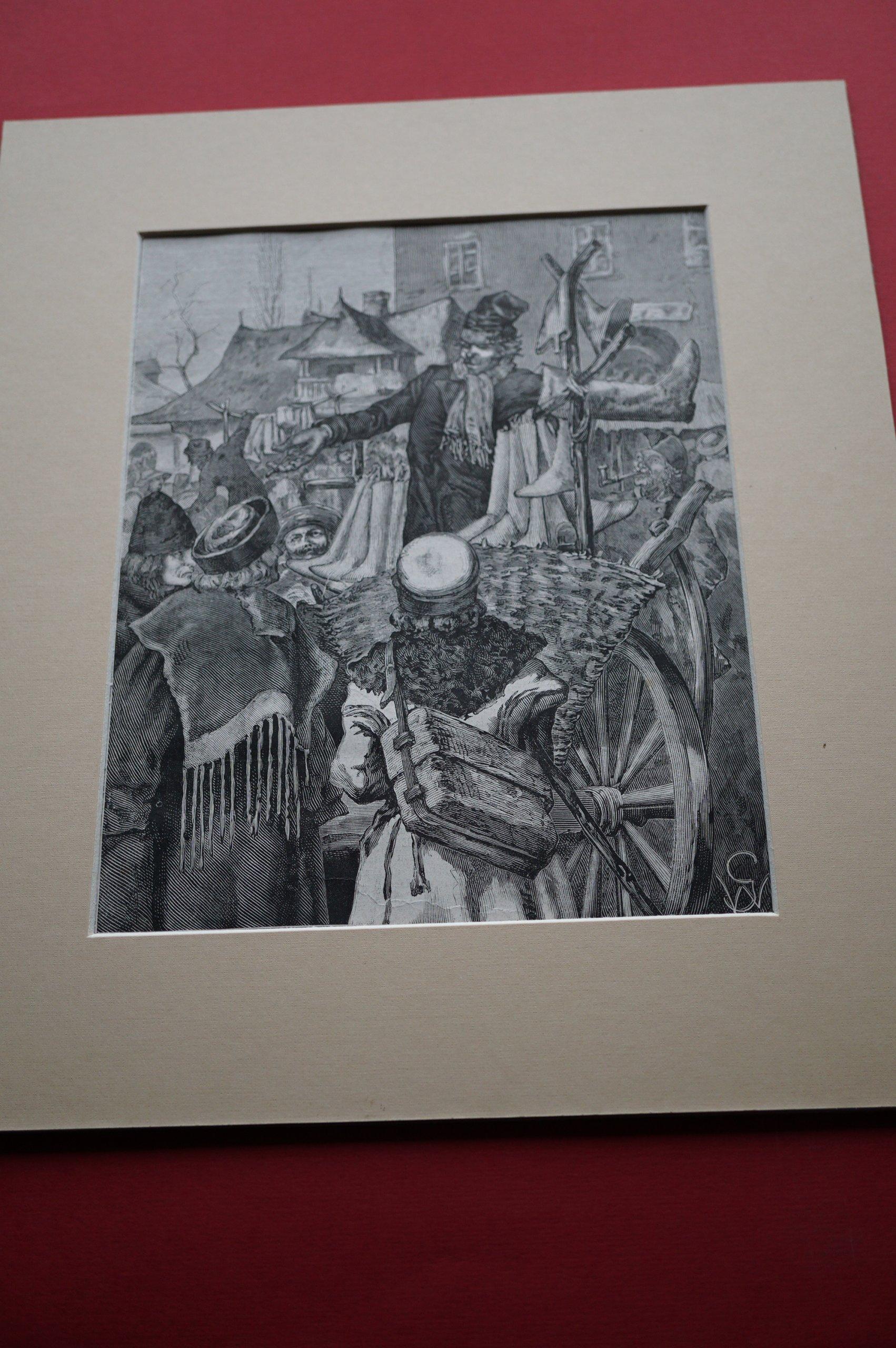 GRABOWSKI W.: Szewc na jarmarku w Galicji. 1882.