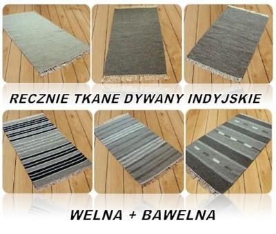 Dywan Wełniany 120x170 Cm Dywany Ręcznie Tkane