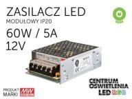 Zasilacz LED modułowy 60W 12V 5A taśma pasek