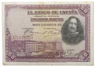 12.Hiszpania, 50 Peset 1928, P.75.b, St.3+