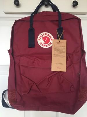 przytulnie świeże świetna jakość szczegółowe zdjęcia plecak FJALLRAVEN KANKEN burgund classic 16L - 6985218894 ...